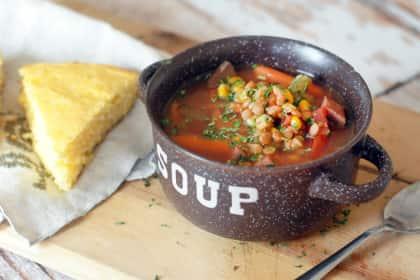 Slow Cooker Ham Soup with Lentils: Leftover Wonder