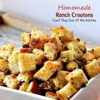 Homemade Ranch Croutons