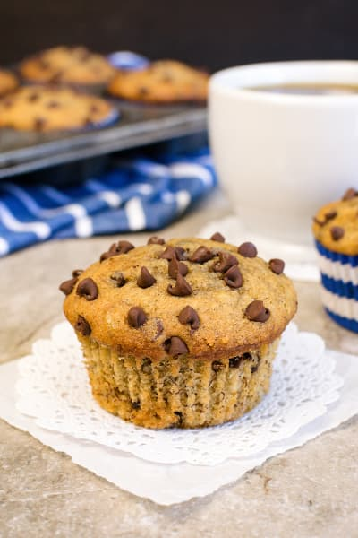 Peanut Butter Chocolate Chip Banana Muffins Pic