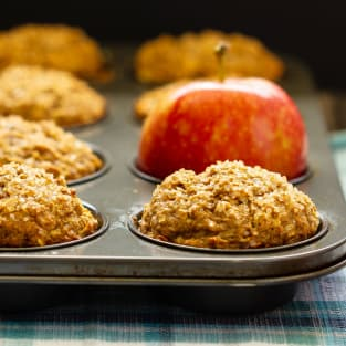 Apple cinnamon muffins photo