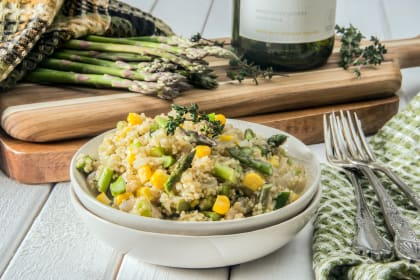 Quinoa Risotto with Asparagus