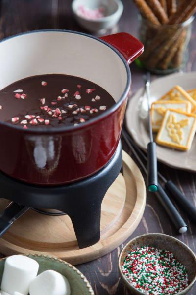 Chocolate Peppermint Fondue Image