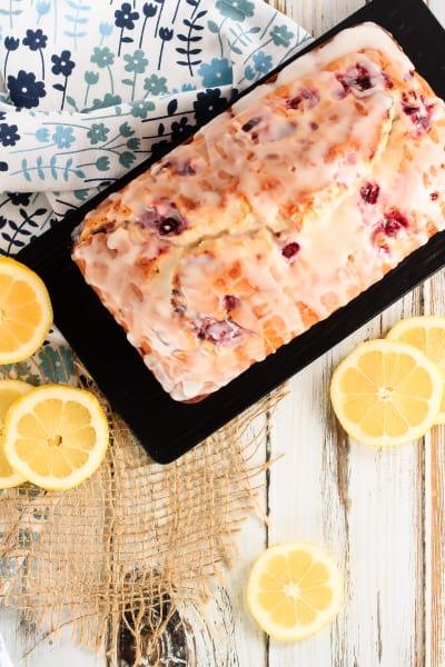 Glazed Raspberry Lemon Bread Image