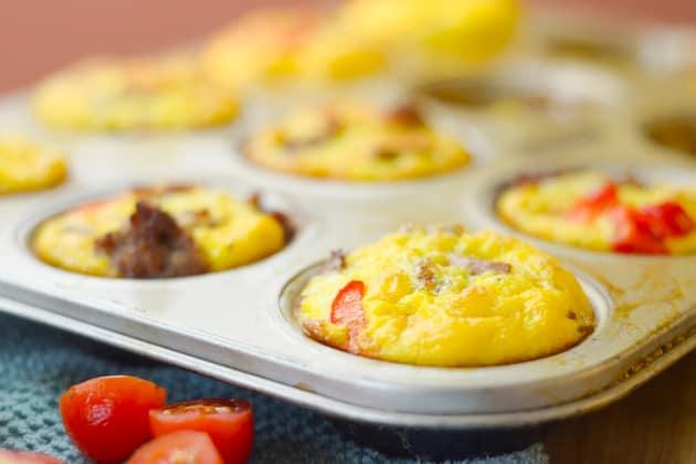 File 2 Gluten Free Sweet Potato & Sausage Egg Cups