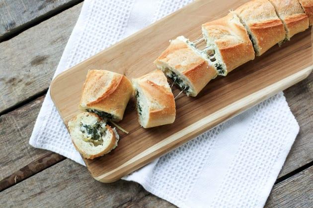 Spinach Artichoke Dip Stuffed Bread Photo
