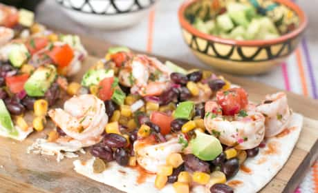 Southwestern Shrimp Flatbread Recipe