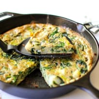 Spinach Leek Potato Frittata Recipe