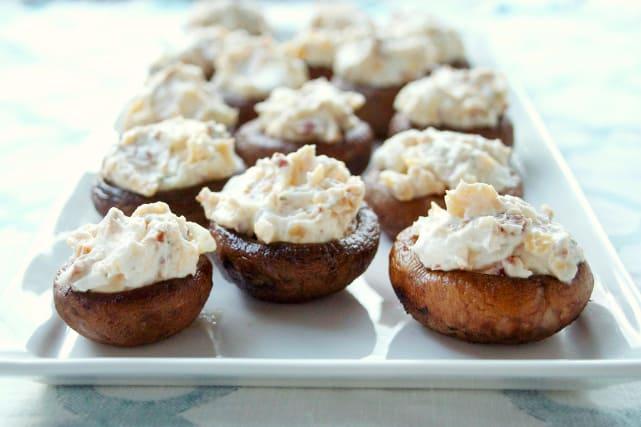 Beer Dip Stuffed Mushrooms Recipe