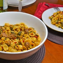 Italian Sausage Pasta with White Beans Recipe