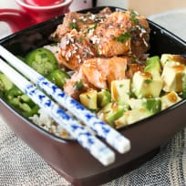 Spicy Sesame Salmon Avocado Bowls Recipe