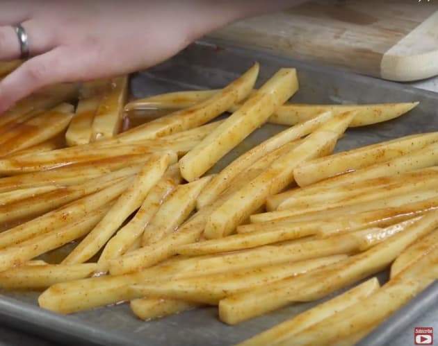 Baking Chili-Lime French Fries