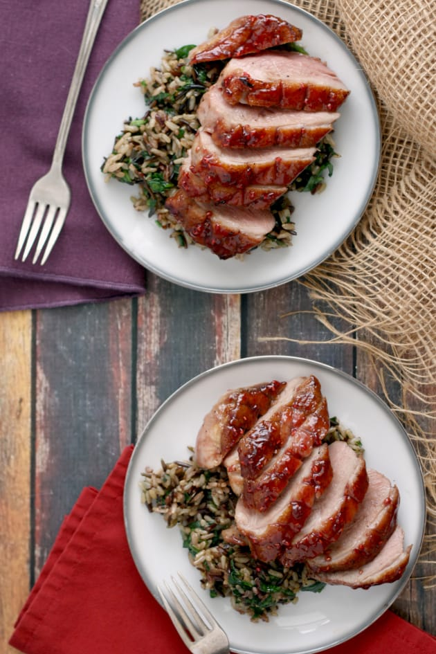 Whiskey Raspberry Glazed Duck Breasts Picture