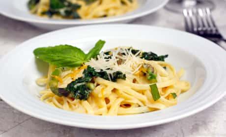 Meyer Lemon Kale Pasta Recipe