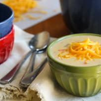Gluten Free Cheddar Cheese Soup with Ham Recipe