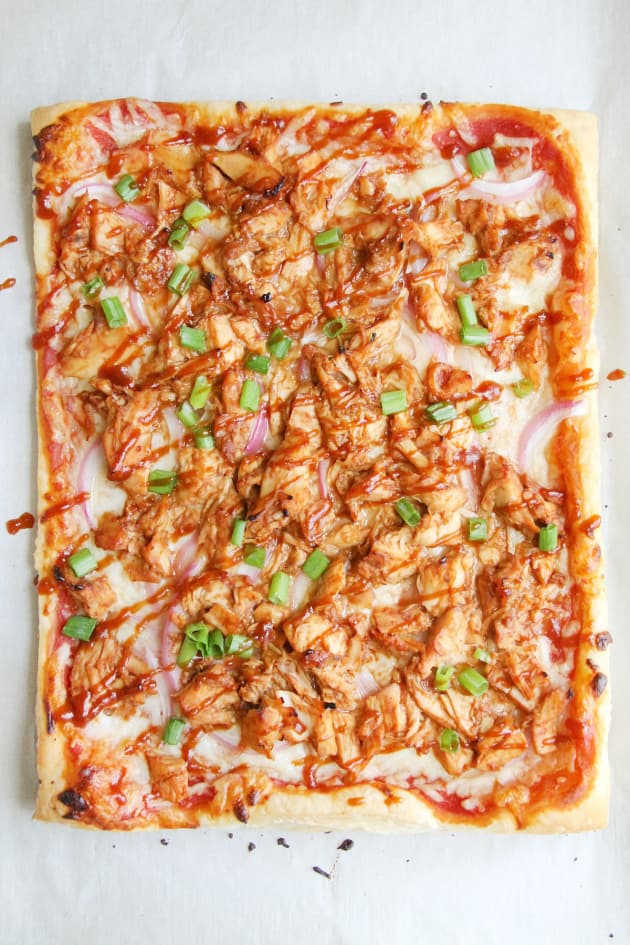 Puff Pastry BBQ Chicken Pizza Pic