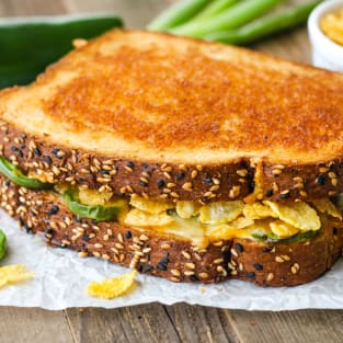 Toaster oven jalapeno popper grilled cheese photo