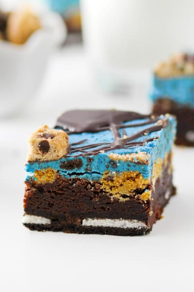 Cookie Monster Brownies Picture