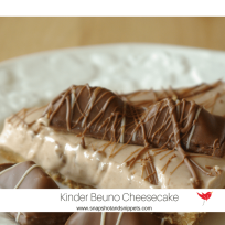 Lower-fat Kinder Bueno Cheesecake