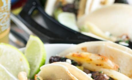 Carne Asada Steak Tacos with Fries Image
