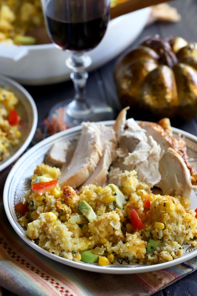 Green Chile Cornbread Stuffing Image
