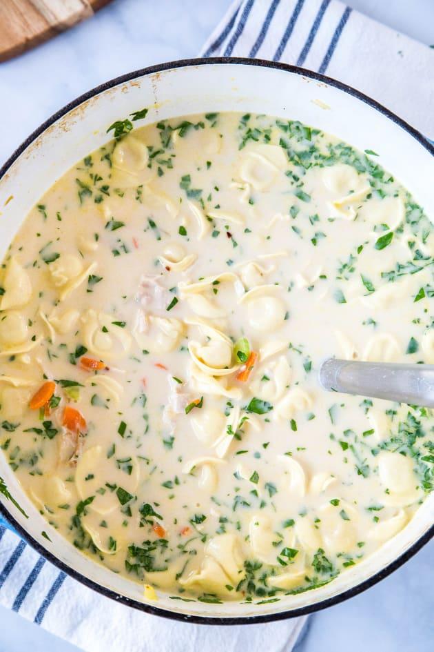 Creamy Chicken Tortellini Soup Picture
