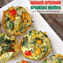 Spinach Artichoke Breakfast Muffins