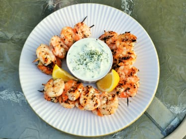 Greek Shrimp with Tzatziki Sauce