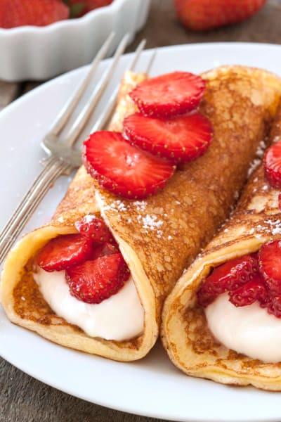 Gluten Free Strawberry Cheesecake Pancakes Image