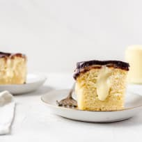Boston Cream Pie Poke Cake Recipe