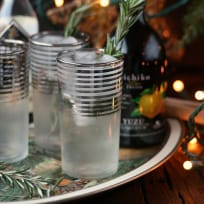 Rosemary Yuzu Gin Fizz Recipe