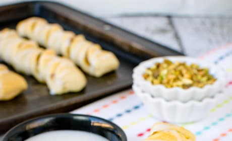 Lemon Pistachio Crescent Twists Image