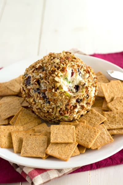 File 1 Blue Cheese Cranberry Cheese Ball