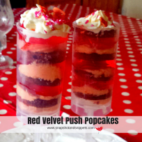 Red Velvet Push Pop Cakes