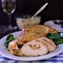 Garlic and Herb Stuffed Chicken Breast