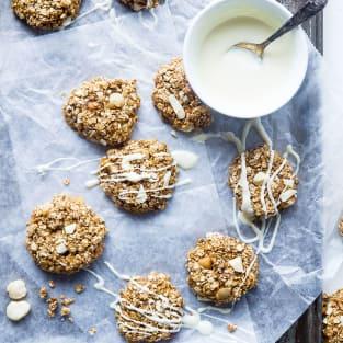 No bake white chocolate macadamia cookies photo
