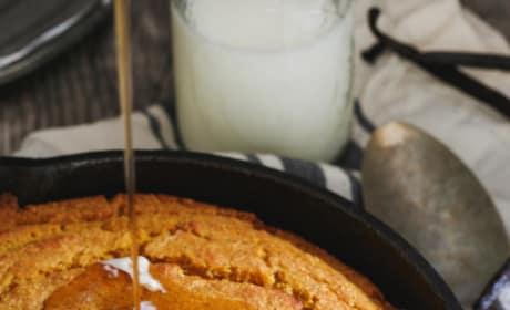 Vanilla Pumpkin Skillet Cornbread Pic
