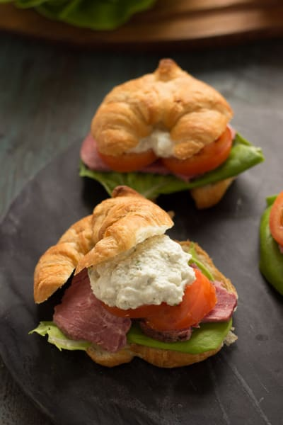 Roast Beef Croissant Sandwiches Image
