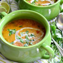 Instant Pot Coconut Curry Lentil Tomato Soup Recipe