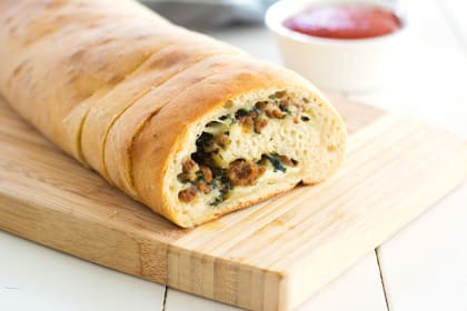 Stuffed Spinach Bread
