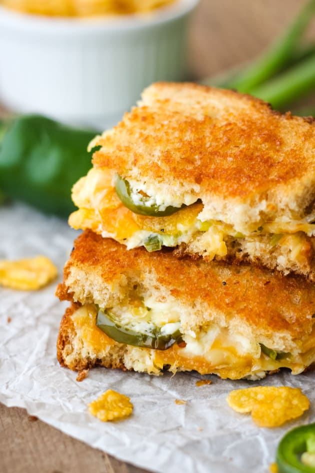 Toaster Oven Jalapeño Popper Grilled Cheese Picture