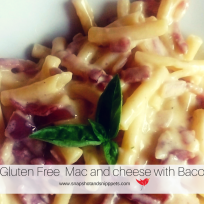 Gluten Free Mac and Cheese with Bacon bits