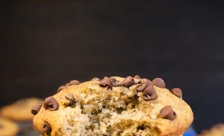 Peanut Butter Chocolate Chip Banana Muffins Image