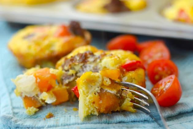 Gluten Free Sweet Potato & Sausage Egg Cups Image