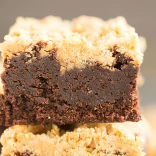 Peanut butter streusel brownies photo