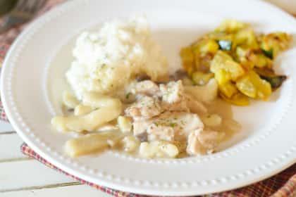 Gluten Free Creamy Chicken Noodles