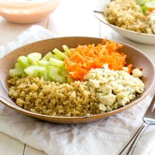 Buffalo chicken quinoa salad photo