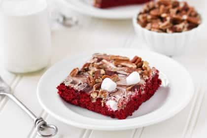 Red Velvet Mississippi Mud Cake