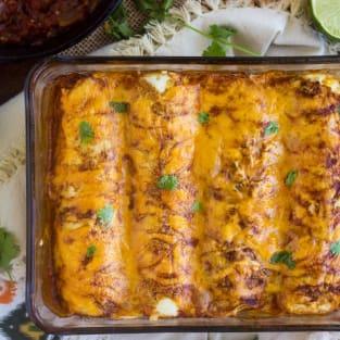 Healthy chicken enchiladas photo