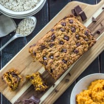 Dark Chocolate Oatmeal Pumpkin Bread Recipe