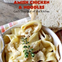 Amish Chicken and Noodles